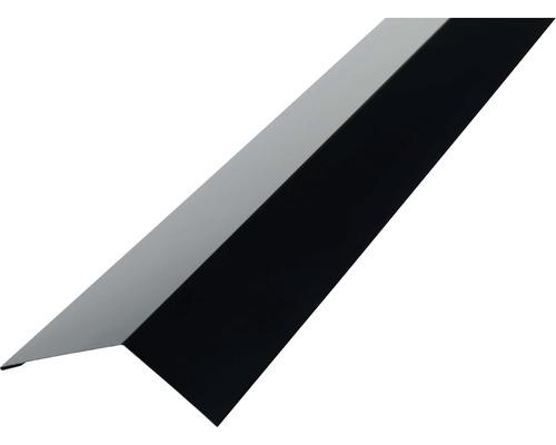 PRECIT Rinneneinhang für Trapezblech H12 RAL 9005 jet black 2 m