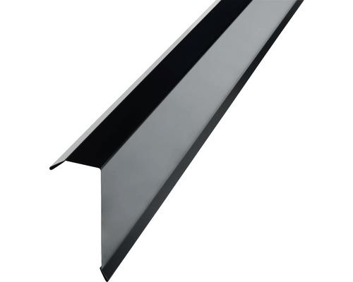 PRECIT Kantenwinkel für Trapezbleche H12 jet black RAL 9005 2 m