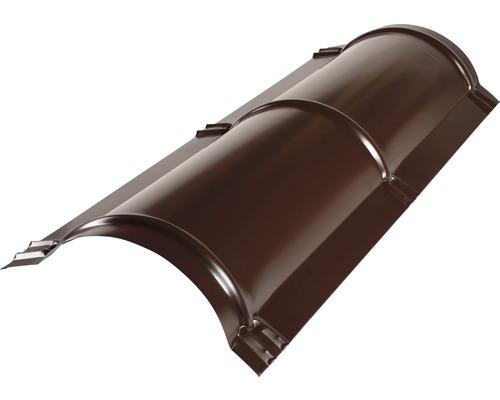 PRECIT Firstblech halbrund chocolate brown RAL 8017 1 m