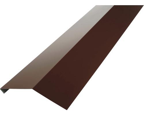 PRECIT Rinneneinhang ohne Wasserfalz chocolate brown RAL 8017 1 m