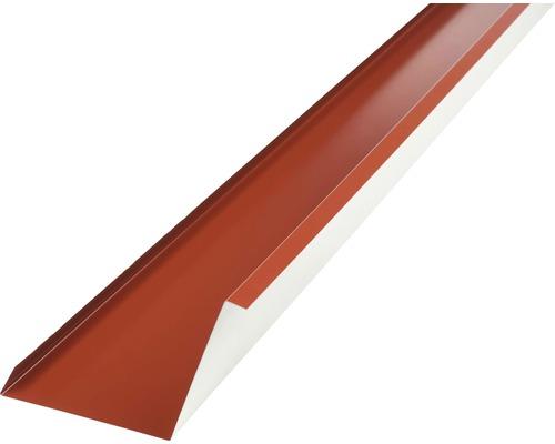 PRECIT Wandanschlußblech für Metallziegel oxide red RAL 3009 1000 x 100 x 115 mm