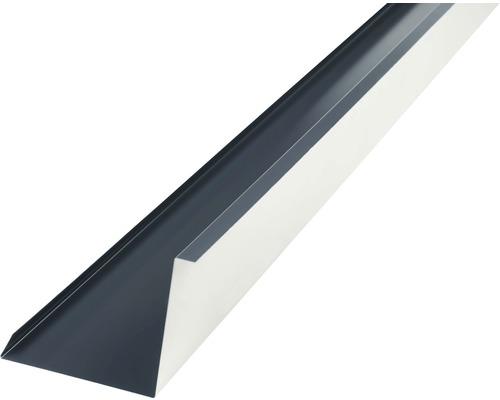 PRECIT Wandanschlußblech für Metallziegel anthracite grey RAL 7016 1000 x 100 x 115 mm