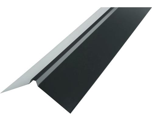 PRECIT Dachfirst gerade für Trapezblech anthracite grey RAL 7016 2000 x 95 x 95 mm