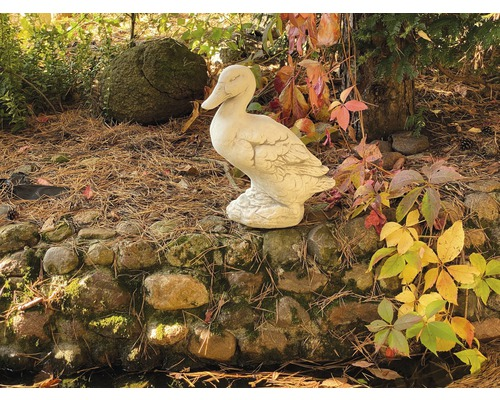 Gartensteinfigur Ente