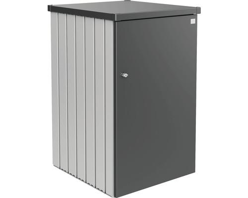 Mülltonnenbox biohort Alex Variante 1.3 80 x 88 x 129 cm silber-dunkelgrau