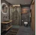 Aufsatzwaschbecken Lombok 50x40 cm Naturstein Riverstone grau