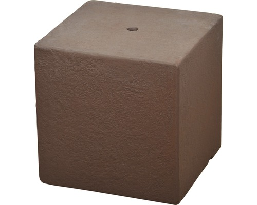 Gartenbrunnen-Sockel Cube 31 x 31 x 31 cm rostfarben