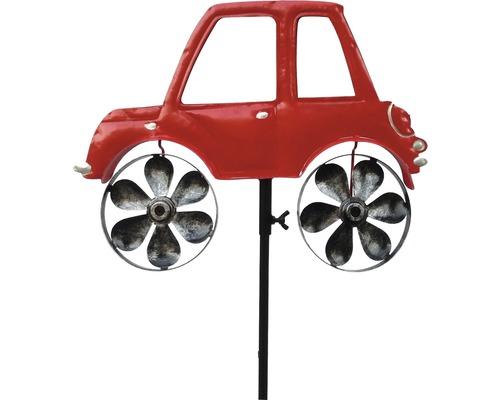 Metall Windmühle Auto rot