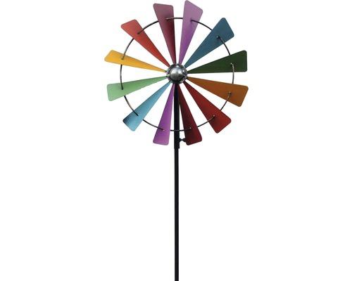 Metall Windmühle farbig