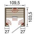 Infrarotkabine Weka Hamina 1 109,5x103,5x190 cm