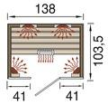 Infrarotkabine Weka Hamina 2 135x103,5x190 cm
