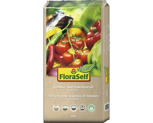 Tomaten- & Gemüseerde ohne Torf FloraSelf Nature 40 L