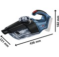 Akku-Sauger Bosch Professional GAS 18V-1 inkl. Bodendüse, Fügendüse und 2 x Saugrohre ohne Akku und Ladegerät