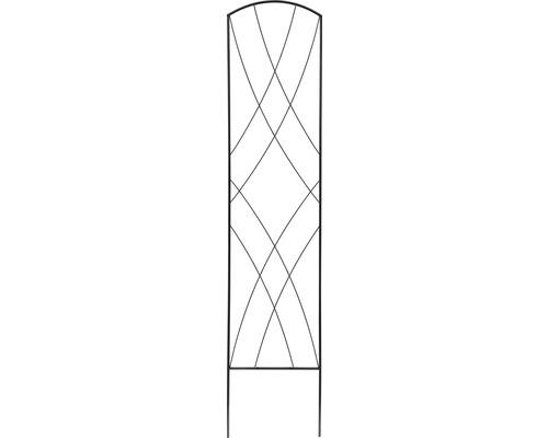 Zierspalier Metall 30x150 cm schwarz