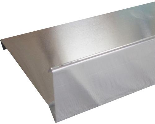 Zambelli Windbordleiste Titanzink mit 2 Falzen 3000 mm