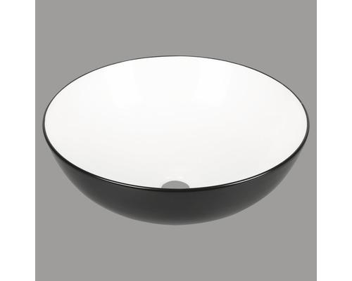 Aufsatzwaschbecken Duo rund 39,5 cm schwarz/weiß
