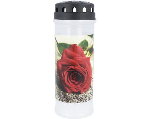 """LED Grabkerze """"Rose"""""""