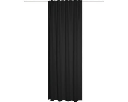 Vorhang mit Universalband Blacky schwarz 245x135 cm schwer entflammbar