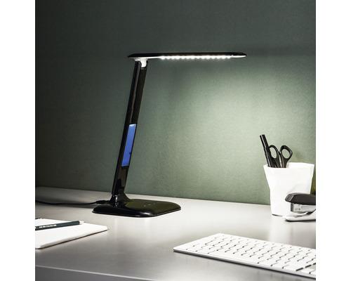 LED Bürolampe dimmbar 1x5W 200 lm 2800-6500 K warmweiß/tageslichtweiß H 550 mm Glenn schwarz