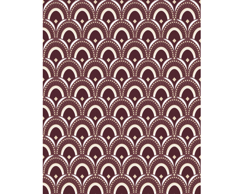 Vliestapete 114163 Peacocktail bordeaux