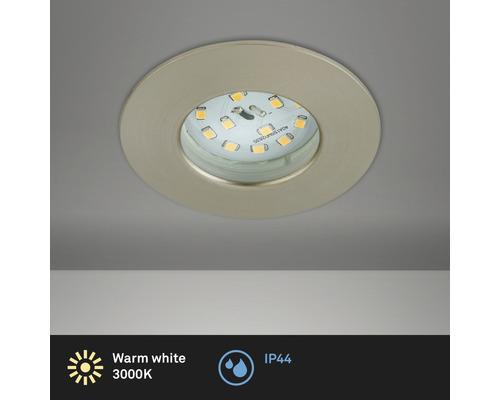 LED Einbauleuchte nickel/matt mit Leuchtmittel 400 lm 3000 K warmweiß Ø 60 mm rund kunststoff IP44