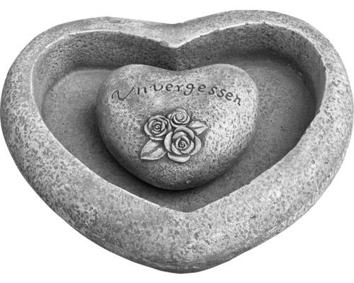 Gartendeko Herzschale