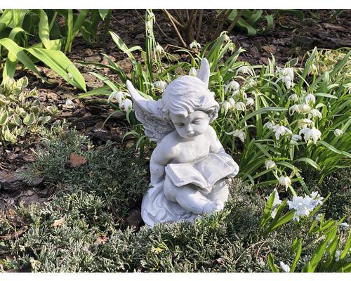 Gartendeko Engel mit Buch
