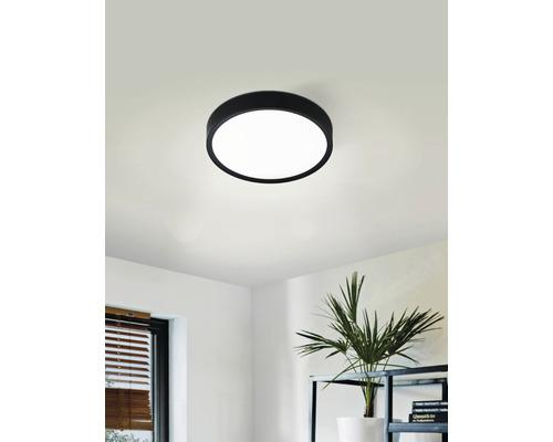 LED Deckenleuchte 18 W 2000 lm 3000 K Ø 340 mm IP20 schwarz