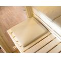 Saunaauflage Karibu für Saunabänke 45x45x4 cm beige