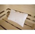 Sauna-Nackenkissen Karibu 30x20 cm weiß