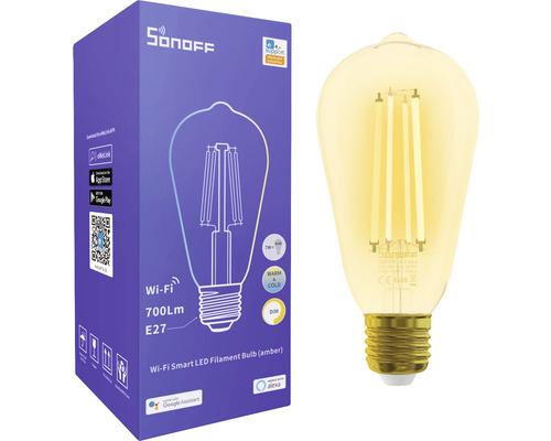 Sonoff Smarte LED-Lampe transparent, E27, ST64, 7 W, 700 Lm, warm/kalt