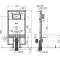 Montageelement Alca Plast Komfort Slim für Wand-WC H:1200 T:80 mm freistehend