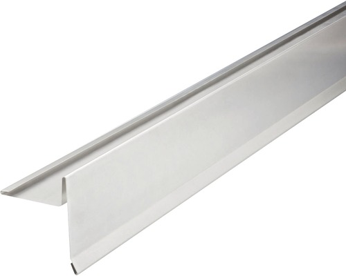PRECIT Aluminium Ortgangblech mit Wasserfalz 2000 x 80 x 80 mm