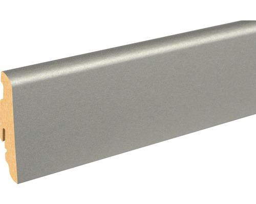 Sockelleiste FU60L Aluminium Color 19x58x2400 mm