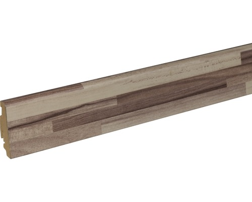 Sockelleiste FU60L Listone Bianco 19x58x2400 mm