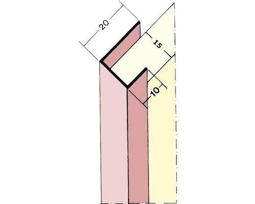 Einfassprofil für Gipskartonplatten 15mm 2,50m