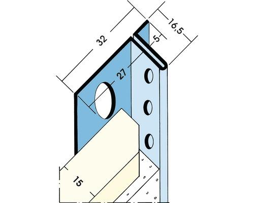 Schattenfugenprofil 5mm 2,50m
