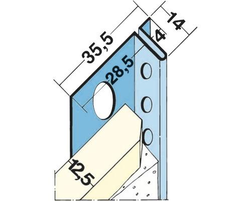 Schattenfugenprofil 4mm 2,50m