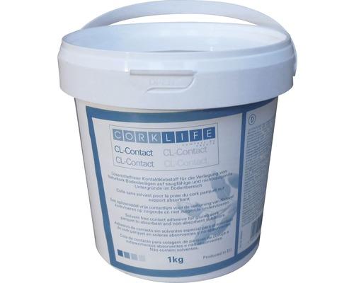Kontaktkleber für Korkbodenbeläge weiß 1 kg