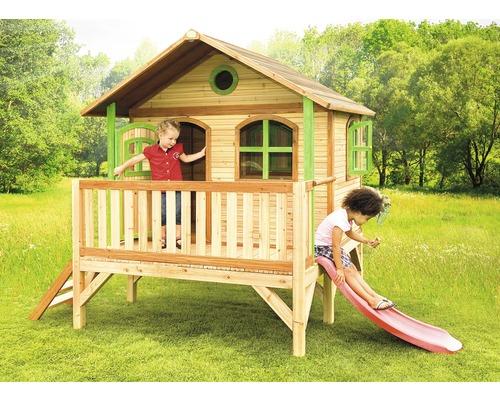 Stelzenhaus axi Stef Holz mit Rutsche natur
