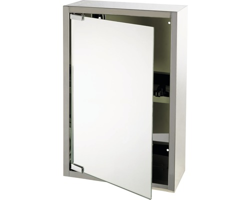 Spiegelschrank Look silber 38x18x51 cm 1-türig edelstahl