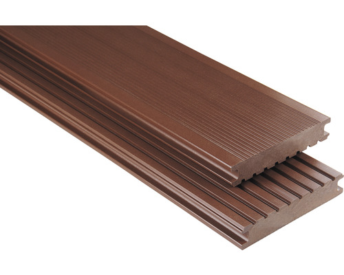 WPC Terrassendiele Konsta Primera Vollprofil glatt braun 26x145 mm (Meterware)