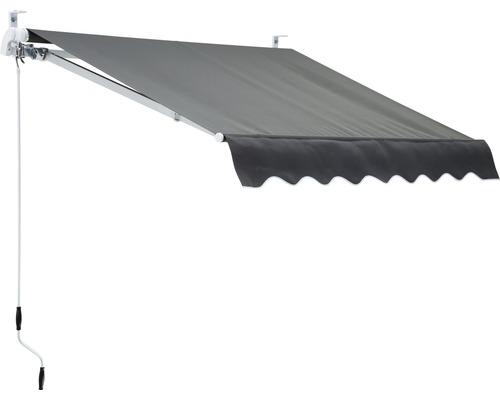 Gelenkarmmarkise 2x1,5 Stoff Uni grau