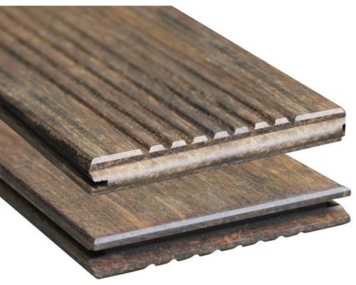 Holz Terrassendiele Konsta Bambus mit Nut 18x137x1850 mm