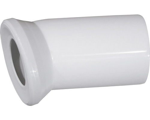 Uni-WC-Anschlußbogen 22° weiß