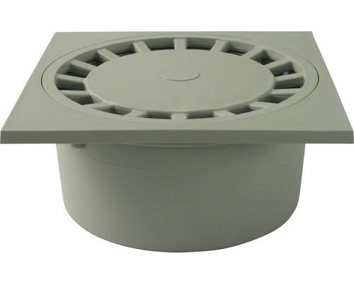 Bodenablauf 250x250 mm NW110 mit senkrechten Ablauf