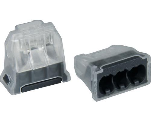 Steckklemme 3 x 0,5 - 2,5 mm² grau 25 Stück