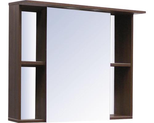 Spiegelschrank Sanotechnik Paris 80x65x25 cm 1-türig nuss/weiß