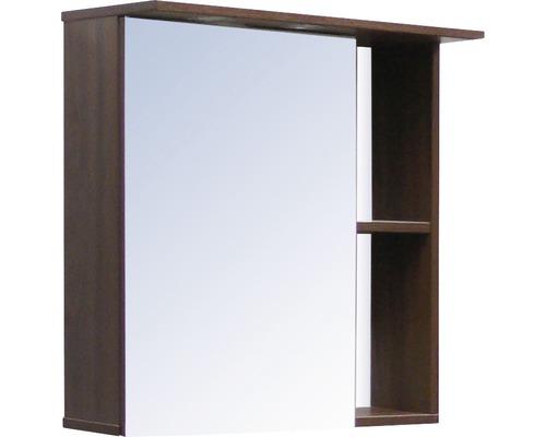 Spiegelschrank Sanotechnik Paris 60x65x25 cm 1-türig nuss/weiß