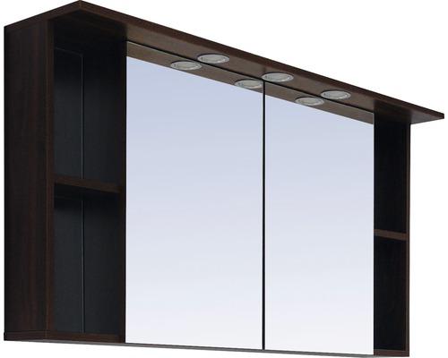 Spiegelschrank Sanotechnik Paris 120x65x25 cm 2-türig nuss/weiß